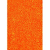 Decopatch Paper 532 - Half Sheet- Orange/Yellow Mottled