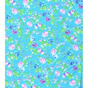 Decopatch Paper 566 - Half Sheet - Blue, Pink & Green Small Roses
