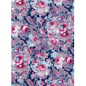Decopatch Paper 592 - Half Sheet -  Black, Pink, Blue Roses