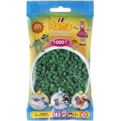 Hama Beads Solid Colours 1000 Pack - 10 Green
