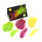 Yellow Feathers (Pack Of 15)