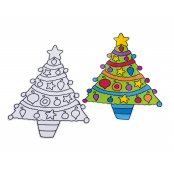 Sand Art Christmas Tree Kit - 1 Kit