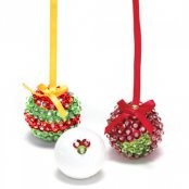 Sequin Bauble Kit - Red and Green - 1 Kit