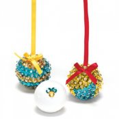Sequin Bauble Gold/Blue