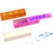 Natural Wooden Pencil Case | Wooden Pencil Case to Decorate