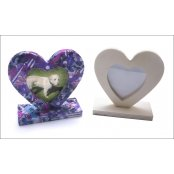 Heart Shaped Wooden Picture Frame