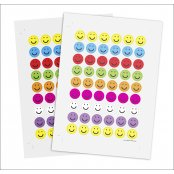 Mini Smile Face Stickers - 350 Stickers