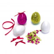 Sequin Egg Kit - Pink & Gold