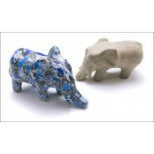Paper Mache Extra Small Elephant