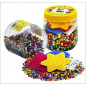 Hama Beads Mix Tub Pack - 4000 Beads & 3 Pegboards