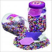 Mix Tub 7000 Hama Beads & 2 Pegboards Set