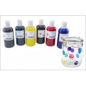 Glass Paints Set - 6 x 150ml