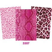 Decopatch Pink Paper Pack - 3 Half Sheets, Reptile, Leopard, Mottled