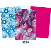 Decopatch Purple Paper Pack - 3 Half Sheets, Feathers, Circles, Plain