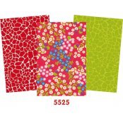 Decopatch Red Paper Pack - 3 Half Sheets Floral, Red, Green Mottled