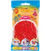 Hama Beads Solid Colours 1000 Pack - 05 Red