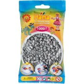 Hama Beads Solid Colours 1000 Pack - 17 Grey