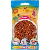Hama Beads Solid Colours 1000 Pack - 20 Reddish Brown