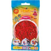 Hama Beads Solid Colours 1000 Pack - 22 Dark Red