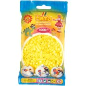 Hama Beads Solid Colours 1000 Pack - 43 Pastel Yellow
