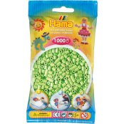 Hama Beads Solid Colours 1000 Pack - 47 Pastel Green