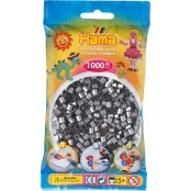 Hama Beads Solid Colours 1000 Pack - 62 Silver