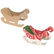 Decopatch Paper Mache Small Christmas Sleigh - N0116