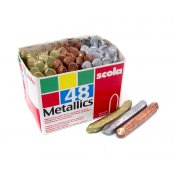 Scola Silver, Gold And Bronze Wax Crayons - 48 Pack
