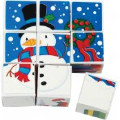 Picture Cubes In Gift Stocking