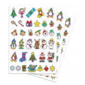 Christmas Paper Stickers - 170 stickers