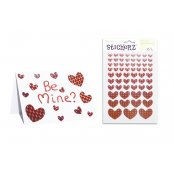 Holographic Heart Stickers - 61 Pack