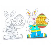 Easter Bunny Cut Outs - 10 Pack