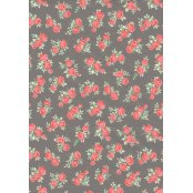 Decopatch Paper 646 - Half Sheet - Grey & Pink Roses