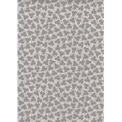 Decopatch Paper 648 - Half Sheet - Pale Blue & Grey Flowers