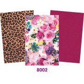 Decopatch Pink Paper Pack - 3 Half Sheets, Floral, Plain, Animal Print