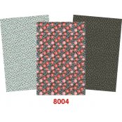 Decopatch Grey Paper Pack - 3 Half Sheets, Grey, Black and Patterned