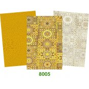 Decopatch Yellow Paper Pack - 3 Half Sheets, Patterned and Plain