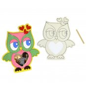 Wooden Owl Picture Frame