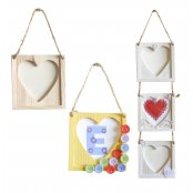 Wooden Hanging Heart Picture Frame