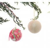 Paper Mache Bauble for Christmas Decoration