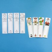 Colour In Christmas Bookmarks (4 Pack)