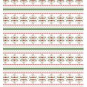 Decopatch Paper 678 - Half Sheet - Red, White and Green Christmas Print