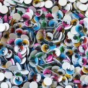 10mm Coloured Wiggle Eyes - 100 Pack