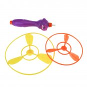 Flying Saucer and Launcher Toy - 2 Pack