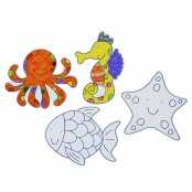 Preprinted Sealife Cutouts - 4 Pack
