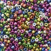 Pack Of 500 Metallic Pony Beads