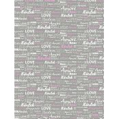 Decopatch 686 Paper - Half Sheet - Pastel Pink & Grey Love