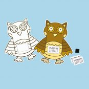 Colour In Owl 2020 Calendar - 1 Kit