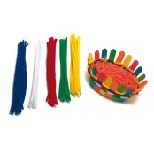 Pack Of 100 Assorted Coloured Pipe Cleaners
