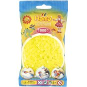 Hama Beads Solid Colours 1000 Pack - 34 Neon Yellow